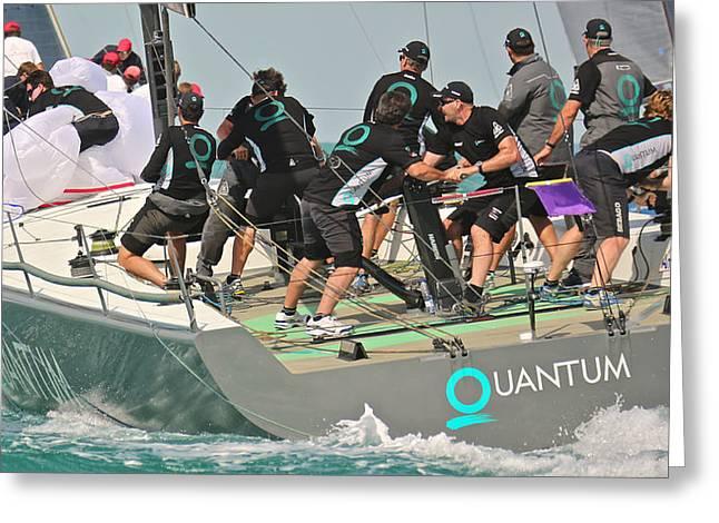Quantum Key West Race Week Greeting Card by Steven Lapkin