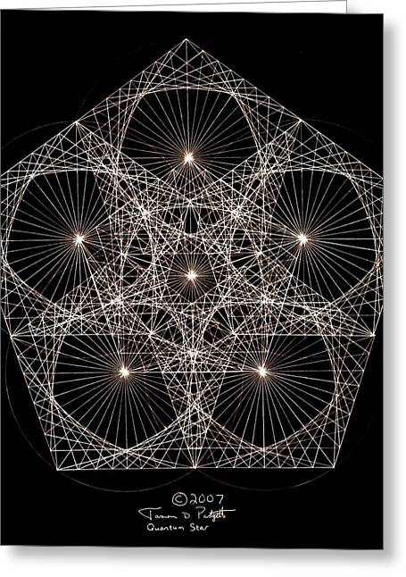 Drawn Greeting Cards - Quantum Star II Greeting Card by Jason Padgett
