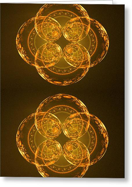 Quantum Twins Greeting Card by Ester  Rogers