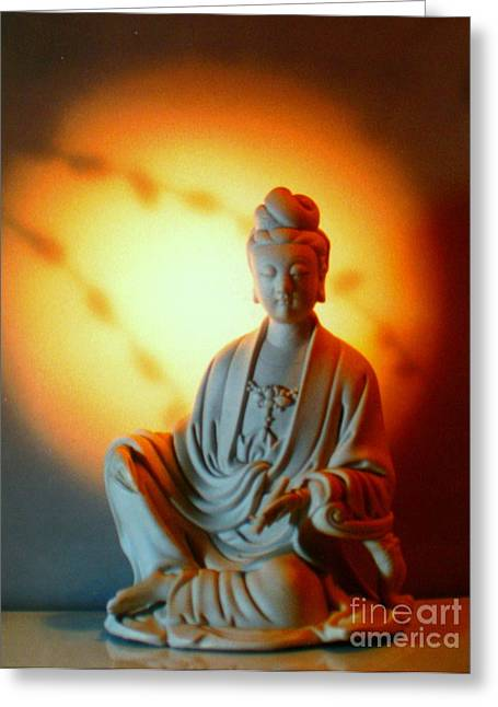 Faa Exclusive Greeting Cards - Quanyin Greeting Card by Shasta Eone