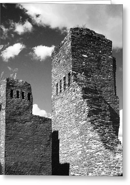 Pueblo Greeting Cards - Quarai at Salinas Pueblos Mission NM Greeting Card by Christine Till