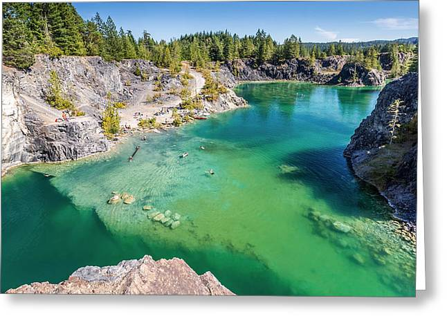 Quarry Lake British Columbia Greeting Card by Pierre Leclerc Photography
