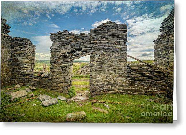 National Digital Greeting Cards - Quarry Ruin Greeting Card by Adrian Evans