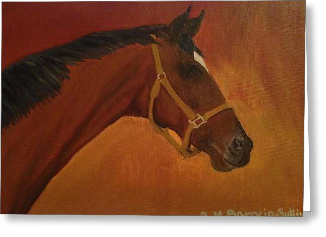 Quarter Horses Greeting Cards - Quarter Horse Greeting Card by Berta Barocio-Sullivan