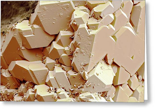 Quartz Crystals Greeting Card by Science Photo Library