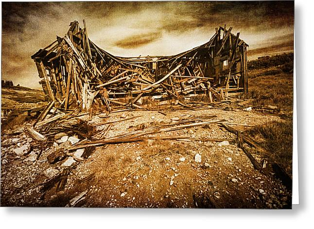 Dilapidated Greeting Cards - Quartz Mountain 9 Greeting Card by YoPedro