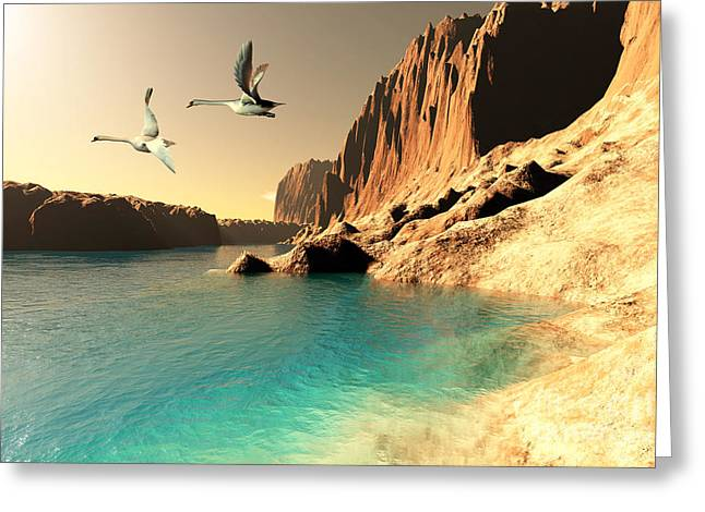 Muted Digital Art Greeting Cards - Quasimodo Seascape Greeting Card by Corey Ford