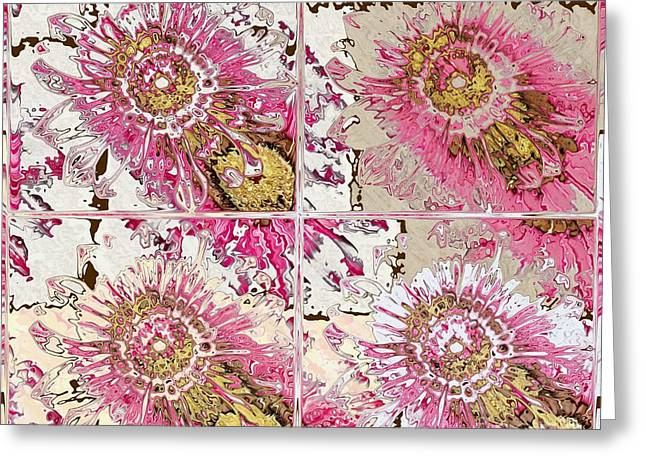 Division Greeting Cards - Quatro Floral - 22a Greeting Card by Variance Collections