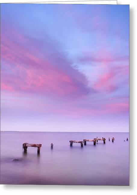 Falmouth Massachusetts Greeting Cards - Quay at Sunset Greeting Card by Michael Blanchette