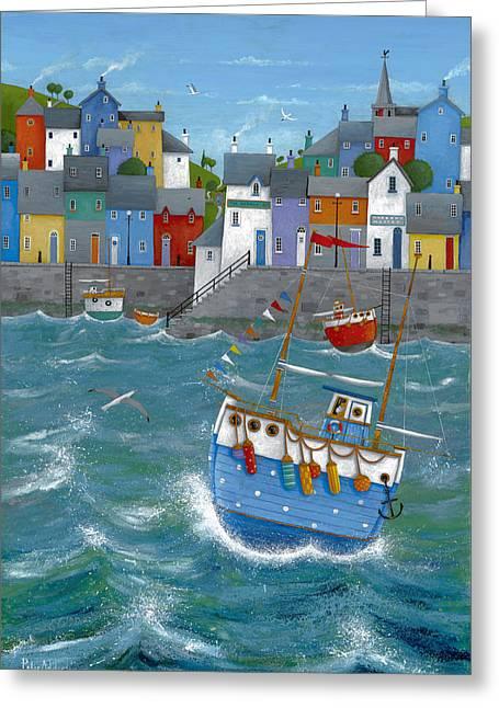 Quayside Greeting Cards - Quayside Greeting Card by Peter Adderley