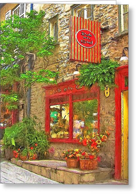 Champlain Greeting Cards - Quebec City II - Quartier Petit Champlainc Greeting Card by Sharon Norman