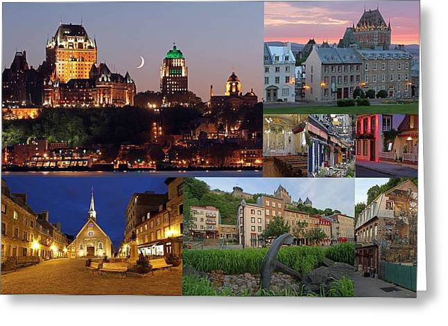 Quebec City Greeting Card by Juergen Roth