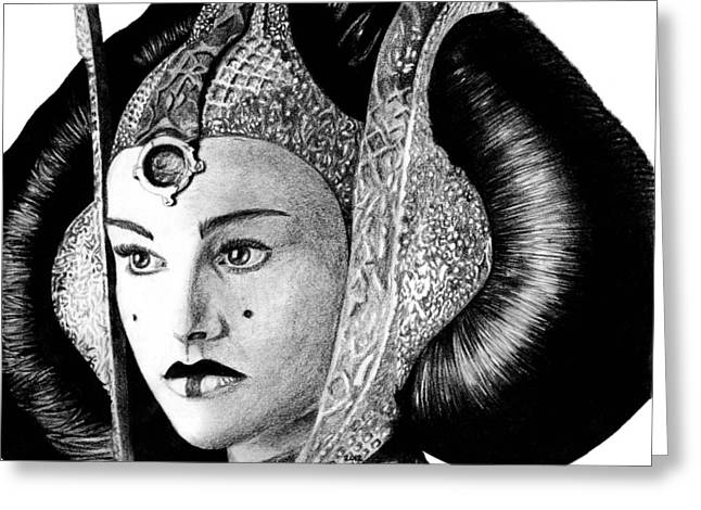 Blaster Greeting Cards - Queen Amidala Greeting Card by Kayleigh Semeniuk