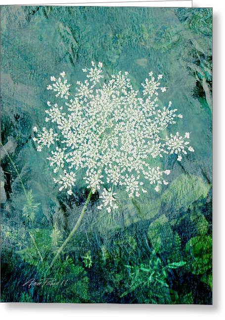 Floral Digital Art Greeting Cards - Queen Annes Lace  Greeting Card by Ann Powell