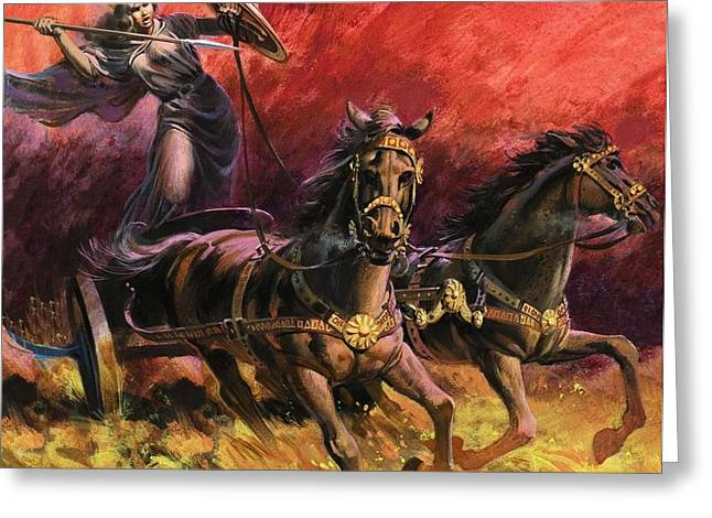 Queen Greeting Cards - Queen Boadicea Greeting Card by Andrew Howat