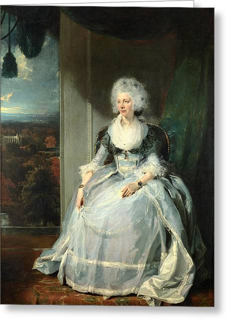Charlotte Paintings Greeting Cards - Queen Charlotte Greeting Card by Thomas Lawrence