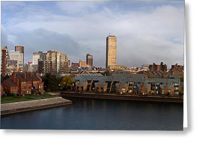 Center City Greeting Cards - Queen City Skyline Greeting Card by Peter Chilelli