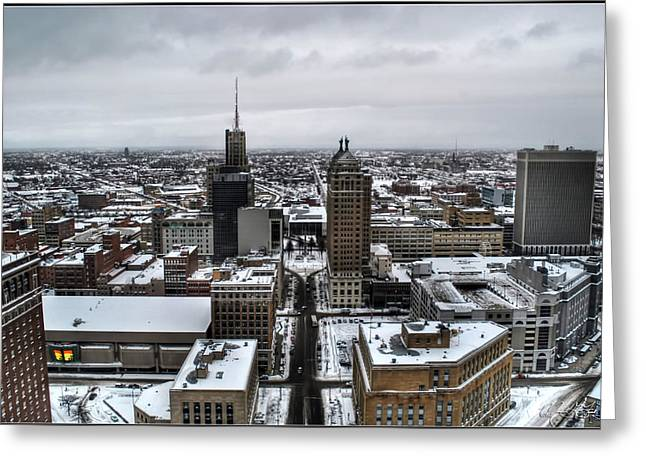 Queen City Winter Wonderland After The Storm Series 001 Greeting Card by Michael Frank Jr