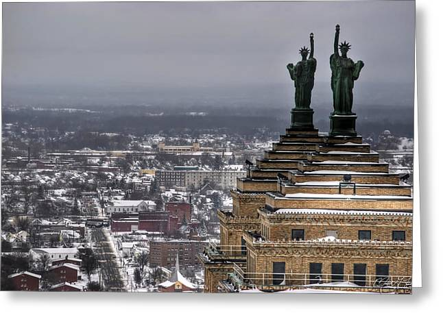 Recently Sold -  - Winter Storm Greeting Cards - Queen City Winter WonderLand After the Storm Series 0013 Greeting Card by Michael Frank Jr