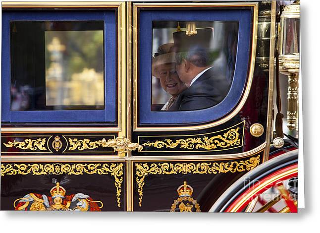 British Royalty Greeting Cards - Queen E II Greeting Card by Brian Jannsen