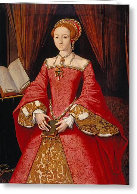 British Royalty Greeting Cards - Queen Elizabeth as a Princess Greeting Card by William Scrots