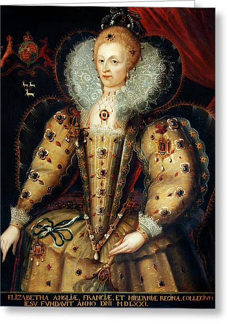 Queen Elizabeth I Greeting Card by Bodleian Museum/oxford University Images