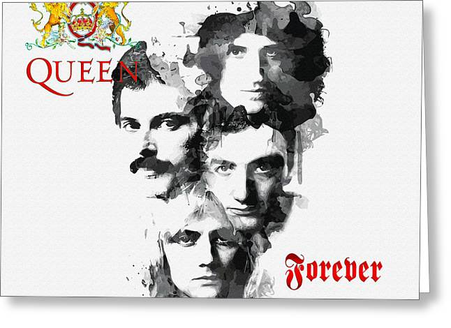 Young Michael Jackson Greeting Cards - Queen Forever Greeting Card by Don Kuing