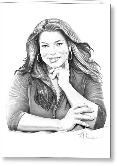 Hop Drawings Greeting Cards - Queen Latifah Greeting Card by Murphy Elliott