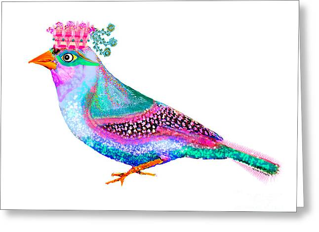 Story Mixed Media Greeting Cards - Queen Loca Greeting Card by Moon Stumpp
