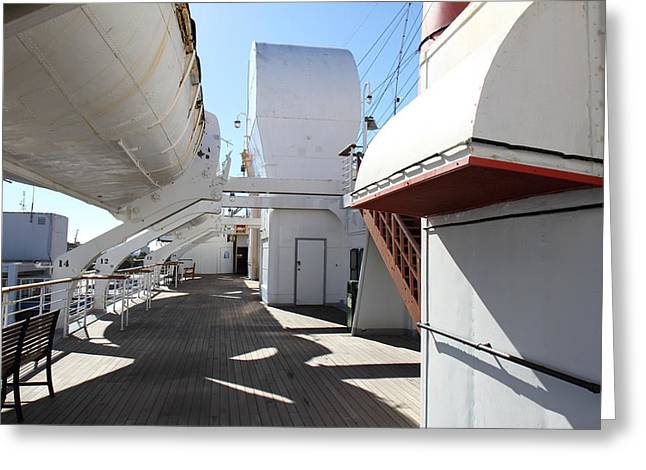 Long Greeting Cards - Queen Mary - 121213 Greeting Card by DC Photographer