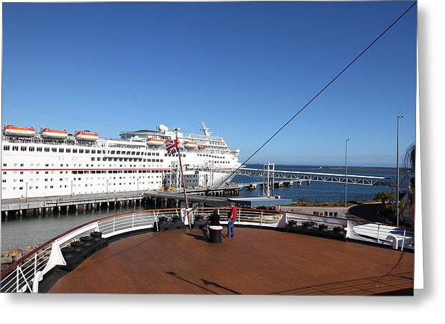 Mary Greeting Cards - Queen Mary - 12128 Greeting Card by DC Photographer