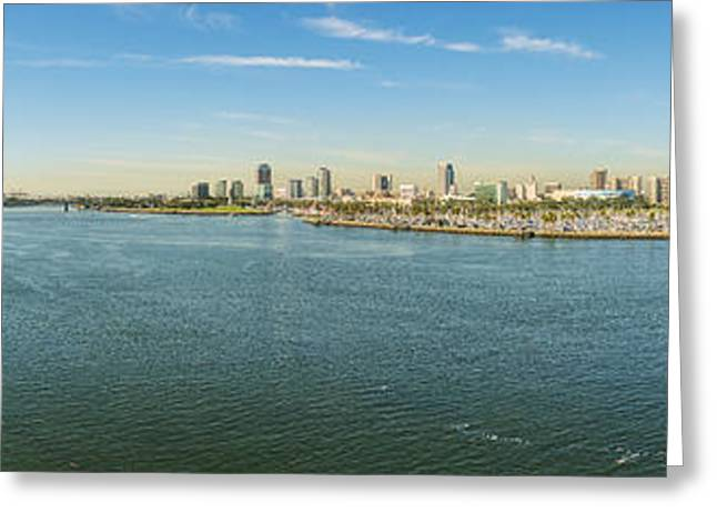 Clear Sky Images Greeting Cards - Queen Mary by Long Beach Greeting Card by Clear Sky Images