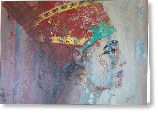 Queen Nefertiti Greeting Card by John Henne