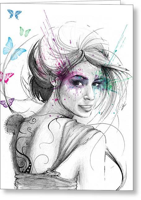 Queen Of Butterflies Greeting Card by Olga Shvartsur