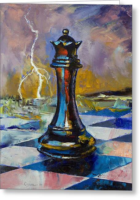 Chess Greeting Cards - Queen of Chess Greeting Card by Michael Creese