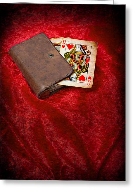 Playing Cards Photographs Greeting Cards - Queen Of Hearts Greeting Card by Amanda And Christopher Elwell
