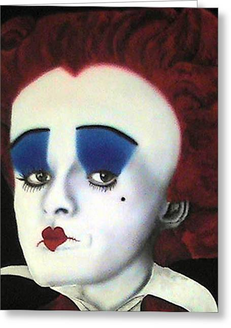 Character Portraits Greeting Cards - Queen Of Hearts Greeting Card by Lisa Abascal