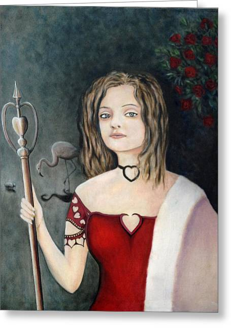 Character Portraits Greeting Cards - Queen of Hearts Greeting Card by Mr Dill