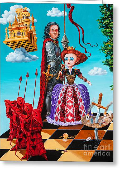 Solder Greeting Cards - Queen of Hearts. Part 1 Greeting Card by Igor Postash