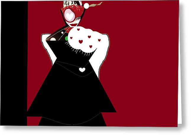 Design Pics Mixed Media Greeting Cards - Queen of Hearts Greeting Card by Sharon Ann Calvo