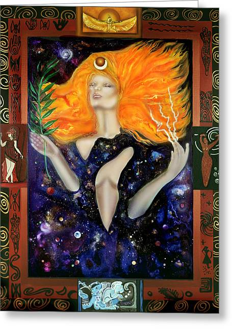 Queen Of Heaven Greeting Cards - Queen of Heaven Greeting Card by Ilene Satala