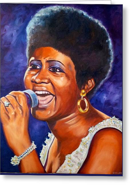 Gold Earrings Greeting Cards - Queen of Soul Greeting Card by Christina Clare