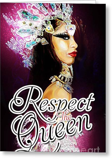 Damned Greeting Cards - Queen of the Damned  Greeting Card by Respect the Queen