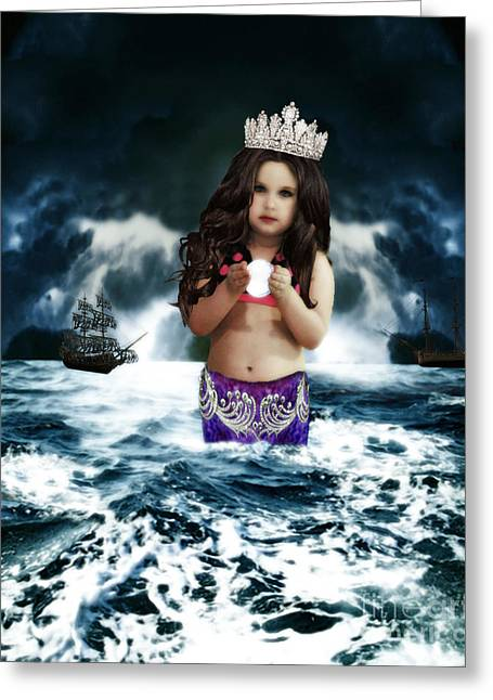 Chelsy Greeting Cards - Queen of the Mermaids Greeting Card by ChelsyLotze International Studio