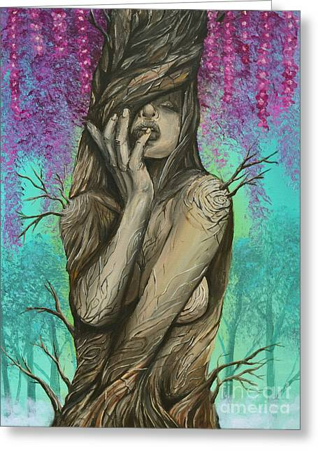 Ent Paintings Greeting Cards - Queen of the TreeFolk Greeting Card by Ryan May
