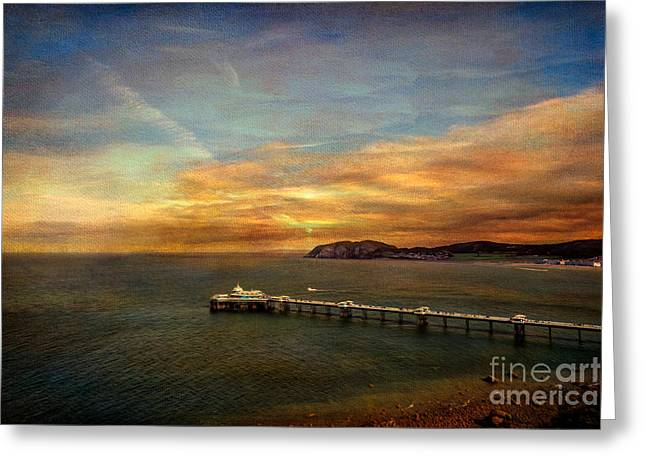 Pier Digital Greeting Cards - Queen of the Welsh Resorts Greeting Card by Adrian Evans