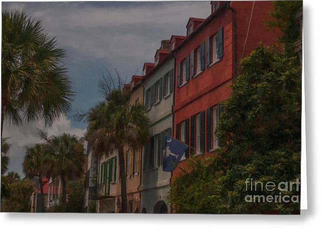 Historic Home Greeting Cards - Queen Street Charleston Greeting Card by Dale Powell