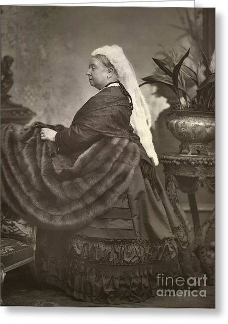 British Celebrities Photographs Greeting Cards - Queen Victoria, British Monarch Greeting Card by British Library
