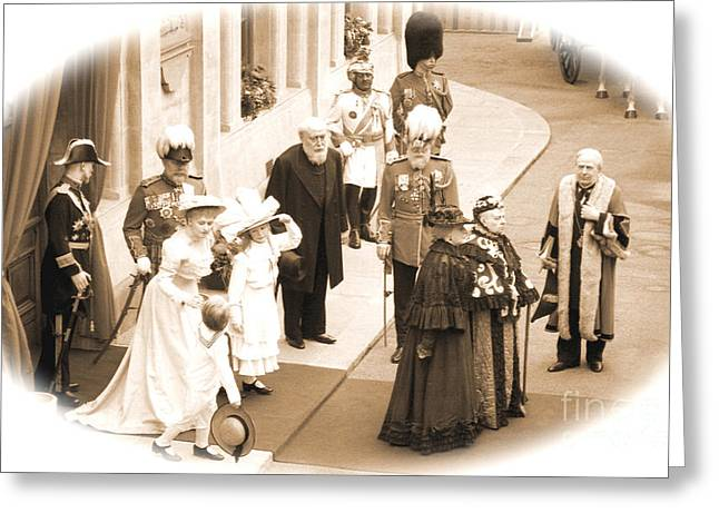 Entourage Greeting Cards - Queen Victoria Greeting Card by John Wallace