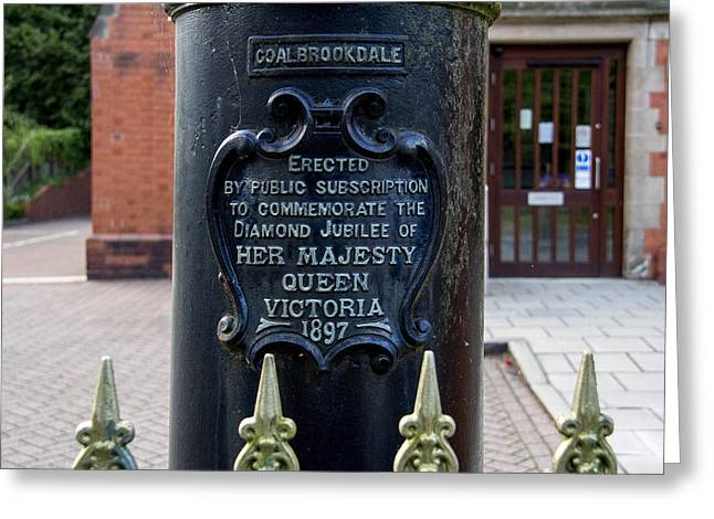 Coalbrookdale Greeting Cards - Queen Victoria Lamp Post Greeting Card by Pamela Reynolds